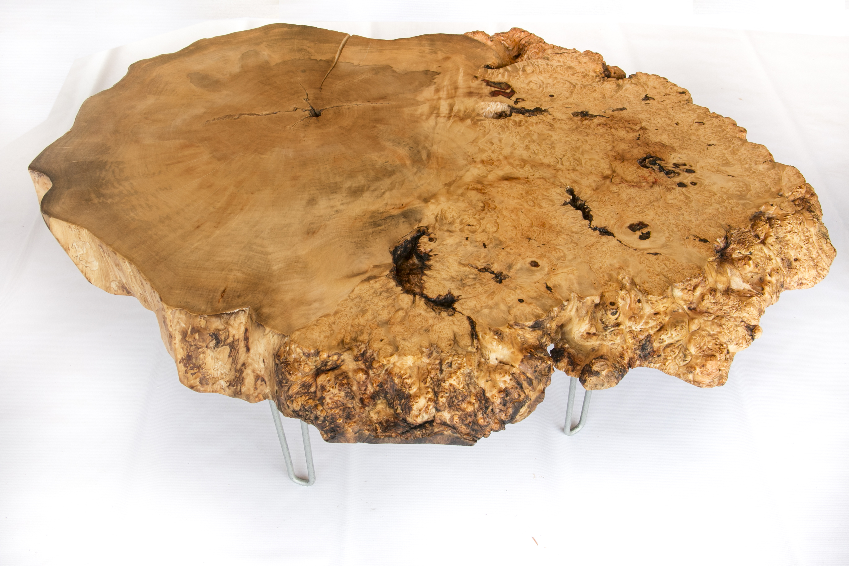 Burl Slab Coffee Table – Darvo